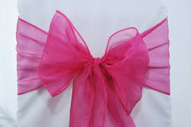 organza sashes fuschia hot pink organza sashes s party rental