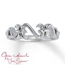 kay jewelers clearance white gold bracelets kay jewelers open heart ring