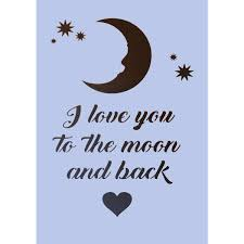 i you to the moon and back a4 size stencil 006 dovetails vintage
