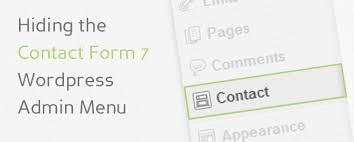 contact admin remove contact form 7 from admin menu gradient