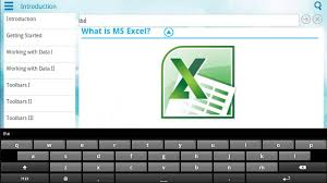 Spreadsheet App For Android Tablet Demo Of Learn Excel 101 App On Android Tablet Youtube
