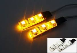 Led Strip For Car Interior 2 Amber Yellow 3 Smd Led Light Strip Car Interior Signal Gauge