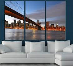 Landscape Canvas Prints by Canvas Print New York City Skyline New York Landscape Large