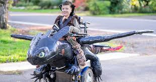 Motorcycle Halloween Costume Dad Amazing Halloween Costumes Kids Wheelchairs