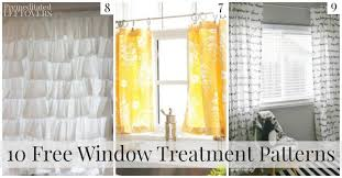 Curtain Valances Designs 10 Free Window Treatment Patterns And Tutorials