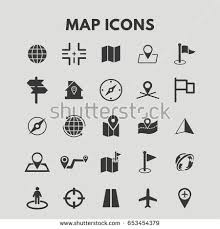 map icons stock vector 653454379 shutterstock