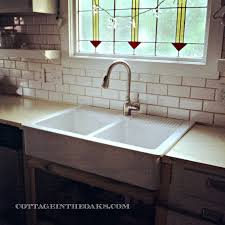 rustic kitchen remodel with farmhouse undermount marble sink
