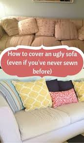 How To Sofa How To Cover An Ugly Sofa Even If You U0027ve Barely Sewn Before
