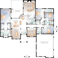 5 bedroom 1 story house plans mediterranean house plan 4 bedrooms 3 bath 2901 sq ft plan 5 927