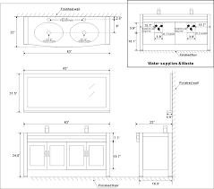 Kitchen Countertop Size - bathroom bathroom vanity cabinet dimensions on bathroom in
