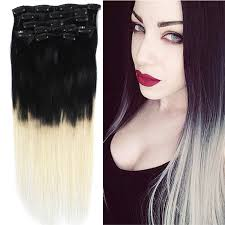 white hair extensions black and white hair extensions remy indian hair