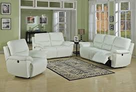White Leather Recliner Sofa Great White Leather Recliner Sofa U2013 Interiorvues