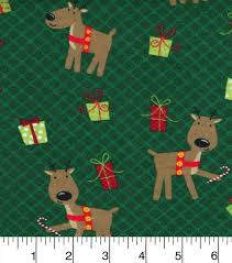 flannel fabric reindeer pals and presents joann