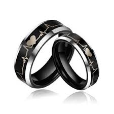 black wedding rings his and hers black engagement rings for him 6 wedding dresses rings and