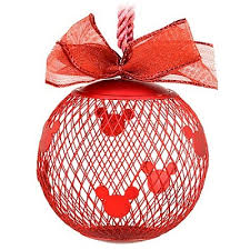 your wdw store disney ornament fillable mesh mickey