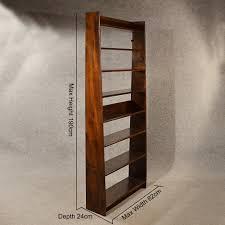 antique elm tall bookcase open display shelves antiques atlas