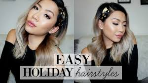 26 lazy hairstyling hacks 4 easy holiday hairstyle ideas under 4 mins for lazy people long