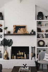 How To Paint Furniture Black by How To Easily U0026 Affordably Paint A Brick Fireplace White Dressed