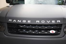 matte range rover range rover sport matte deep black wrap
