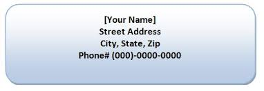 return address label template formal word templates