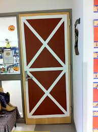 Half Barn Door by Classroom Door Turned Into A Barn Door From Cardboard Box