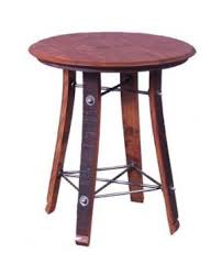 Barrel Side Table Wine Barrel Furniture For Sale Recycled And Reclaimed