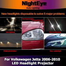 red volkswagen jetta 2006 nighteye vw jetta headlights 2006 2010 jetta mk5 led headlight