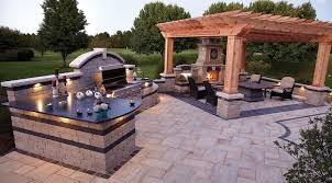 kitchen patio ideas outdoor living space with kitchen patio fireplace covered outdoor
