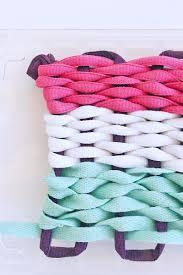 art for kids basic weaving using recycled plastic looms babble