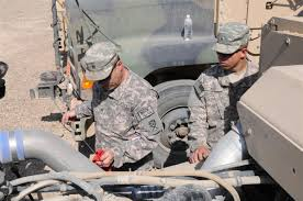 mechanics maintain standard of safety for traveling soldiers