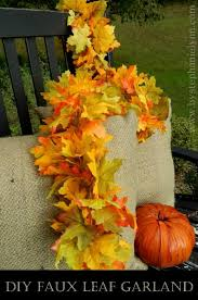 make your own faux leaf fall garland simple easy