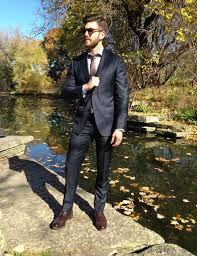 fashion trends mens dress boots with suit combined with dark