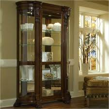 Ornate Display Cabinets Ornate Victorian Style Curio Cabinet With Glass Doors And Shelves
