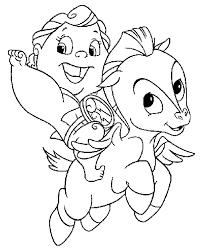 cartoon coloring pages baby pegasus and hercules cartoon