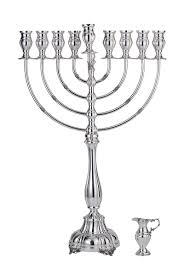 hanukkah menorah buy sterling silver hanukkah menorah rounded arms and chalice