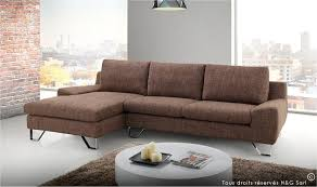 canapé d angle design pas cher canape d angle moderne tissu finition marron kent mobilier design