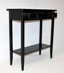 beistelltisch quadratisch schwarz konsolentisch 74x80x32cm 2 schubladen 1 ablageboden pappel