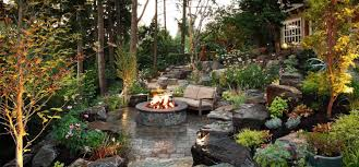 hillside backyard renovation by alderwood landscape design