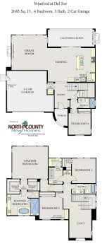 floor plans for two homes stratford at sur floor plans homes in san diego