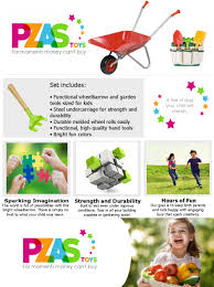 Gardening Tools Amazon by Amazon Com Wheelbarrow For Kids And Garden Tool Set Pzas Toys