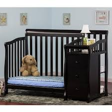 black crib with changing table dream on me jayden 2 in 1 convertible baby crib with changer in