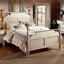 Bed Frame Post by Wilshire Wood Post Bed In Antique White Humble Abode