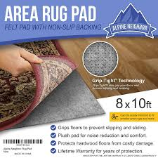 amazon com alpine neighbor 8 feet by 10 feet rug pad with grip