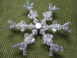 beaded snowflake ornament 7 modern minerals