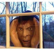 Real Looking Halloween Masks Amazon Com Halloween Scary Peeping Tom True To Life Window Prop