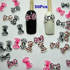 nail art 3d 50 mix print bow rhinestone for nails cellphones