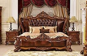 amazon com ma xiaoying california king bed solid wood beech frame
