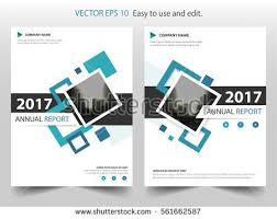 cover layout com blue square annual report leaflet brochure stock vector 2018