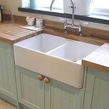 Belfast Sink In Bathroom Butler U0026 Rose Double Belfast Sink With Alba Kitchen Tap And Waste