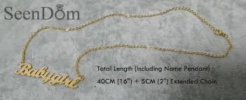 customized necklace online shop gift 316l stainless steel custom personalized